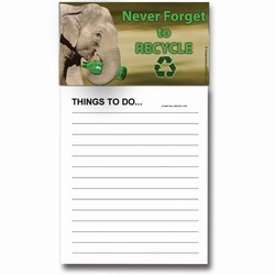 AI-PRG0011-ER6 - Elephant Magnet Notepad, Recycling Incentive, Recycling Promotional Ideas, Recycling Promo Gifts, Recycling Gifts for Tradeshows, recycling ad specialties
