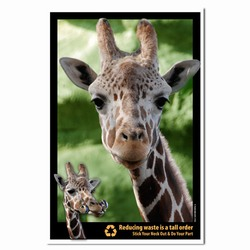 PRG0011-GR1  Giraffe Recycling Poster