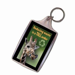 Giraffe Keychain, Animal Keychain, Recycling Incentive, Recycling Promotional Ideas, Recycling Promo Gifts, Recycling Gifts for Tradeshows, recycling ad specialties