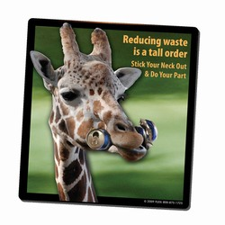 AI-PRG0011-GR4 - Giraffe Recycling Mousepad, Recycling Incentive, Recycling Promotional Ideas, Recycling Promo Gifts, Recycling Gifts for Tradeshows, recycling ad specialties