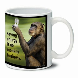 AI-PRG0011-ME5 Monkey Ceramic Mug 11oz.