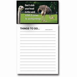 AI-PRG0011-OE6 - Ostrich Magnet Notepad