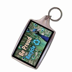 Peacock, Animal Keychain, Recycling Incentive, Recycling Promotional Ideas, Recycling Promo Gifts, Recycling Gifts for Tradeshows, recycling ad specialties