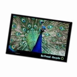 AI-PRG0011-PR3 - Peacock Recycle Magnet, Energy Conservation Handouts, Energy Conservation Gift, Energy Conservation Incentive