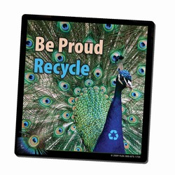 AI-PRG0011-PR4 - Peacock Recycle Mousepad, Recycling Incentive, Recycling Promotional Ideas, Recycling Promo Gifts, Recycling Gifts for Tradeshows, recycling ad specialties