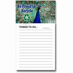 AI-PRG0011-PR6 - Peacock Magnet Notepad, Recycling Incentive, Recycling Promotional Ideas, Recycling Promo Gifts, Recycling Gifts for Tradeshows, recycling ad specialties