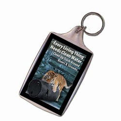 Tiger Keychain, Animal Keychain, Recycling Incentive, Recycling Promotional Ideas, Recycling Promo Gifts, Recycling Gifts for Tradeshows, recycling ad specialties