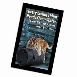 AI-PRG0011-TW3 - Tiger Water Magnet, Energy Conservation Handouts, Energy Conservation Gift, Energy Conservation Incentive