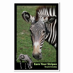 AI-PRG0011-ZR1 Zebra Recycle Poster