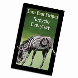 AI-PRG0011-ZR3 - Zebra Recycle Magnet, Energy Conservation Handouts, Energy Conservation Gift, Energy Conservation Incentive