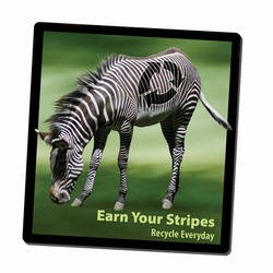 AI-PRG0011-ZR4 - Zebra Recycling Mousepad, Recycling Incentive, Recycling Promotional Ideas, Recycling Promo Gifts, Recycling Gifts for Tradeshows, recycling ad specialties