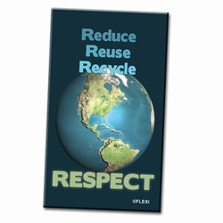 PRG002-02 - Reduce Reuse Recycle Respect Magnet, Energy Conservation Handouts, Energy Conservation Gift, Energy Conservation Incentive