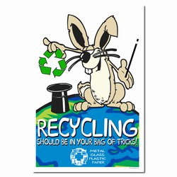 AI-PRG005-01 - Rabbit Recycling Poster