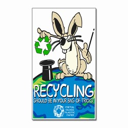 AI-PRG005-04 - Rabbit Recycling Magnet, Energy Conservation Handouts, Energy Conservation Gift, Energy Conservation Incentive