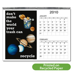 "AI-RC-1 Recycling 6 Page, 12 Month Calendar - 11"" x 8-1/2"""
