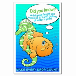 WP308 - Water Conservation Poster, Water quality poster, water conservation placard, water conservation sign, water quality sign, water conservation awareness