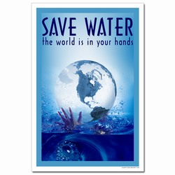 WP312 - Water Conservation Poster, Water quality poster, water conservation placard, water conservation sign, water quality sign, water conservation awareness