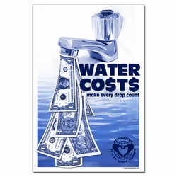 WP319 - Water Conservation Poster, Water quality poster, water conservation placard, water conservation sign, water quality sign, water conservation awareness