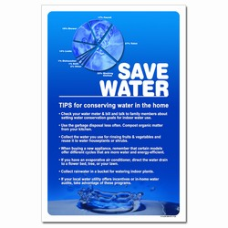 WP330 - Water Conservation Poster, Water quality poster, water conservation placard, water conservation sign, water quality sign, water conservation awareness