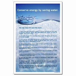 WP333 - Water Conservation Poster, Water quality poster, water conservation placard, water conservation sign, water quality sign, water conservation awareness