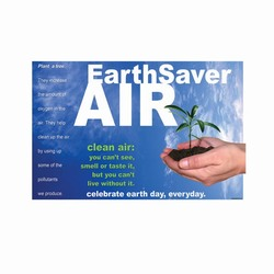 AI-airban002 - Air Quality Banner, Safety Notice Poster, Safety Reminder Poster, Safety Placard, Safety Help Poster, Safety Notification Poster