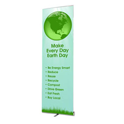 AI-bnr100 - Earth Day Banner, Earth Day Display, Tradeshows for Energy, Trade shows for conservation, Earth Day information display, recycling summit, energy conservation summit, trade show