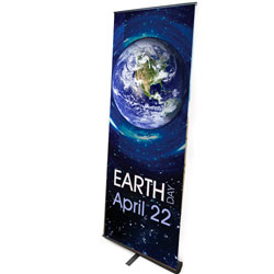 AI-bnr102 - Earth Day Banner, Earth Day Display, Tradeshows for Energy, Trade shows for conservation, Earth Day information display, recycling banner, energy conservation banner, lobby banner