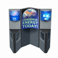 cons6 - FLEXi Modular Conservation Display, Energy Conservation Display, Tradeshows for Energy, Trade shows for conservation, recycling information display, recycling summit, energy conservation summit, energy trade show