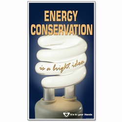 eban005 - Energy Conservation Banner, Leak prevention, air leak prevention, water leak prevention, air and water waste, high pressure air savings, energy conservation for manufacturing facilities