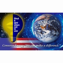 eban100 - Energy Conservation Banner, Vinyl Energy Conservation Banners, Vinyl Banners for Energy Savings, Energy Saving Banner, Energy Saving Signs