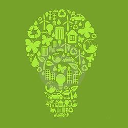 AI-eco-02- Eco-Bulb Logo Design, Eco T shirt, Eco mug, Eco Decal, Eco Friendly