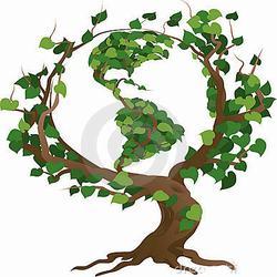 AI-eco-18 Eco Tree- Logo Design, Eco T shirt, Eco mug, Eco Decal, Eco Friendly