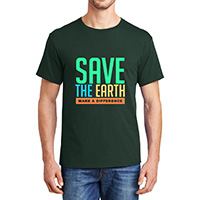 AI-edev1100 - Earth Day T-shirt, Earth Day Incentive, Earth day Ideas, Earth Day Promo Gifts, Earth Day ad specialties, Earth Day gifts