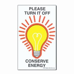 ed201-01 - Energy Conservation Decals, Energy Conservation Stickers, Energy Stickers, Energy Savings Stickers, Butt-cut Energy Labels, Vinyl Energy Decals, Vinyl Energy Labels, Vinyl Energy Stickers