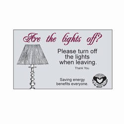 ed225 - Energy Conservation Decals