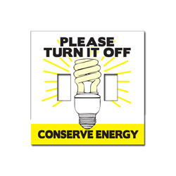 ed112-03 Energy Conservation Double Lightswitch Decal