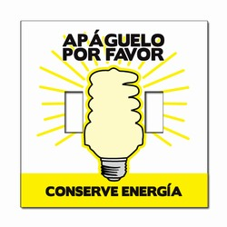 ed112-05 Energy Conservation Double Lightswitch Decal