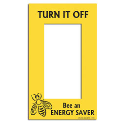 "AI-edltsw203-02 - 1 Bee an Energy Saver Energy Conservation Lightswitch Decal - 2 1/4"" x 4 1/4"""