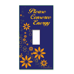 AI-edltsw203-23 - &quot;Please Conserve Energy&quot; Light Switch Decal