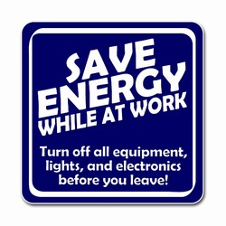 ed098 - Energy Conservation 2.5&quot; Square Decal, Turn Me Off Decals&#8218; 1 Square Decals,Energy Conservation Stickers, Energy Stickers, Energy Savings Stickers, Butt-cut Energy Labels, Vinyl Energy Decals, Vinyl Energy Labels, Vinyl Energy Stickers