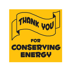 "AI-edoth103-2 - Thank You for Conserving Energy Vinyl Decal 2""inch"