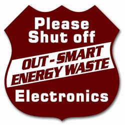 ed108-01 - Energy Conservation 3&quot; Decal, Turn Me Off Decals&#8218; 1 Square Decals,Energy Conservation Stickers, Energy Stickers, Energy Savings Stickers, Butt-cut Energy Labels, Vinyl Energy Decals, Vinyl Energy Labels, Vinyl Energy Stickers