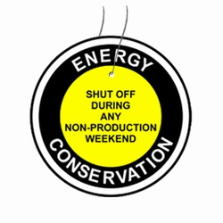 "eft101 Energy Conservation Plastic Tag 3"" Round"