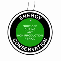 "eft102 Energy Conservation Plastic Tag 3"" Round"