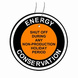 "eft103 Energy Conservation Plastic Tag 3"" Round"