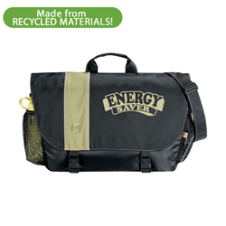 eh012-03 - Energy Conservation 100% Recycled Messenger Bag, Energy Conservation Handouts, Energy Conservation Gift, Energy Conservation Incentive