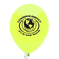 "eh023-05 - Energy Conservation 11"" Latex Balloon, Energy Conservation Sticky Lightbulb Notepad. 2 x 3.5. 50 sheet. Think Energy EfficiencyEnergy Conservation Handouts, Energy Conservation Gift, Energy Conservation Incentive"