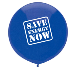 "eh023-06 - Energy Conservation 17"" OUTDOOR Balloon, Energy Conservation Sticky Lightbulb Notepad. 2 x 3.5. 50 sheet. Think Energy EfficiencyEnergy Conservation Handouts, Energy Conservation Gift, Energy Conservation Incentive"