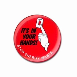 eh905 - Energy Conservation Button, Energy Conservation Handouts, Energy Conservation Gift, Energy Conservation Incentive