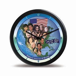 "ehclock-001 - Energy Conservation 14"" Wall Clock, Energy Conservation Handouts, Energy Conservation Gift, Energy Conservation Incentive"